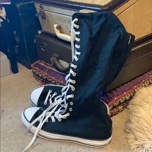 Converse canvas over calf boots